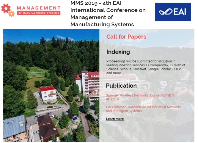 MMS 2019 – 4th EAI International Conference on Management of